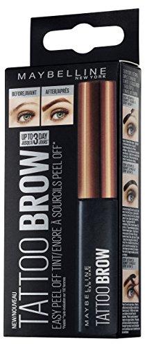 mächtig Maybelline Tattoo Brow Augenbrauenfarbe Nr. 2 Mittelbraun, moderne Augenbrauenfarbe…