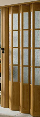 Preisvergleich Produktbild Falttür MARLEY President mit Fenster B 86 x H 205 cm Fb. eichefarben mit Schloss