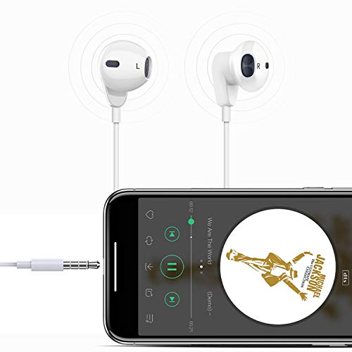 2 Pack Headphones, Earbuds Earphones with Microphone and Volume Control, Compatible with 6s Pl