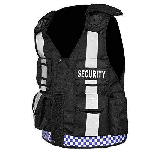 Chaleco táctico de alta visibilidad de seguridad, CCTV, aplicación de la prensa, chaleco para perros (portero)