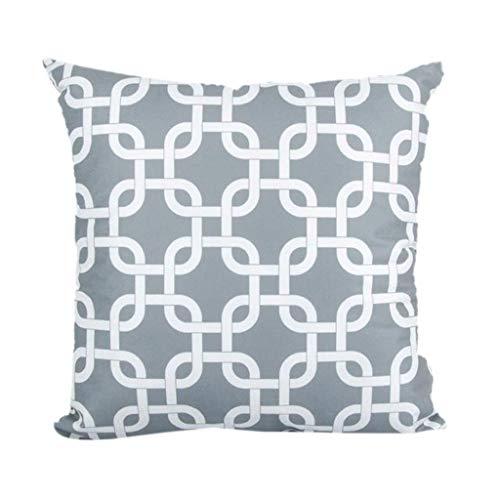 Mamum Housses de Coussin Géométrique Taies d'oreiller Doux pour Canapé Maison Voiture 45 x 45 cm (B)