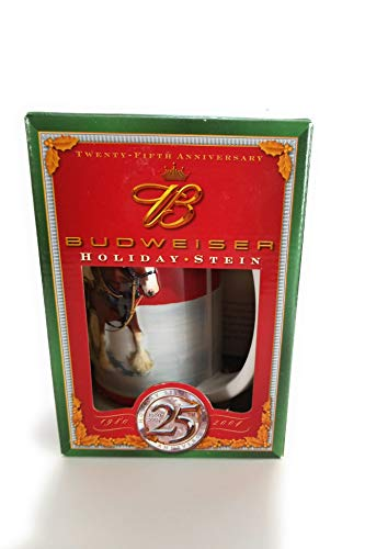 Budweiser Holiday Stein 25 Years Souvenir Mug by Anheuser-Busch