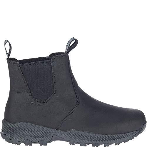 Merrell Men's FORESTBOUND Chelsea Waterproof Boot, Black, 8