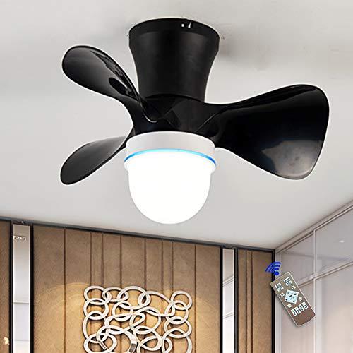 JAHQ - Ventilador de Techo, Silencioso, Potente, 3 Aspas, Mando a Distancia, 55 cm de Diámetro, 6 Velocidades, Temporizador, Motor AC, 36 W, Función de inversión de invierno