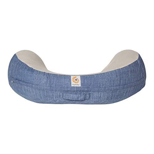 Ergobaby Capa de Almofada de Amamentação Natural Curve Azul Vintage Médio