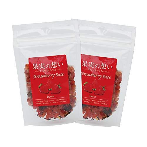 果実の想い フルーツハーブティー ストロベリー 50g×2袋セット 紅茶 まるごと美味しく食べられる新感覚のフルーツフレーバーティー 苺 いちご
