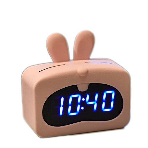 XXW wekker, mode-student, nachtlampje, mute-nachtlampje, wekker, creatieve eenvoudige slaapkamer, led-display, spraakbesturing, wekker, timer