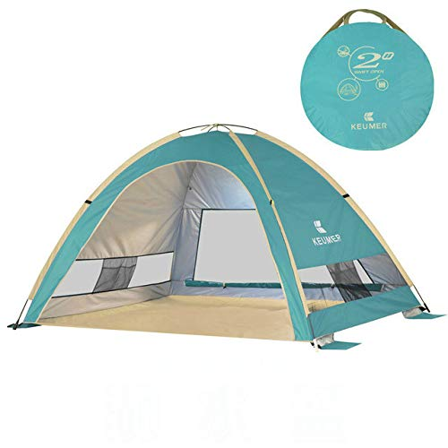 Mdsfe Beach Tent Outdoor Automatic 2-3 People Quickly Open Fishing Sun-resistant TentPop Up Tent3 Person TentParty Tent-025-HU-BL