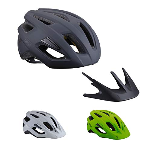 BBB Cycling Unisex-Adult Fahrradhelm Dune MIPS | Damen und Herren | Airflow Cooling System Abnehmbaren Visier | MTB und Rennrad | BHE-22b M (55-58cm), Matt Schwarz 2.0