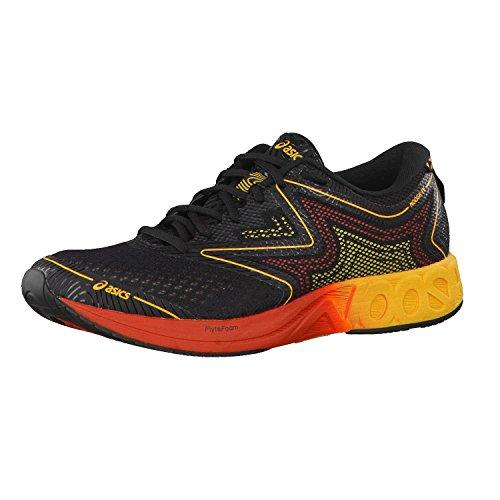 Asics Noosa FF T722n-9004, Zapatillas de Running Hombre, Negro (Black/Gold Fusion/Red Clay), 41.5 EU