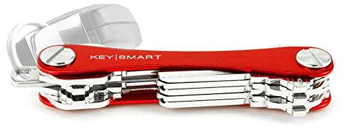 KeySmart - der kompakte Schüsselhalter und Anhänger-Organizer (bis zu 14 Schlüssel, Rot)