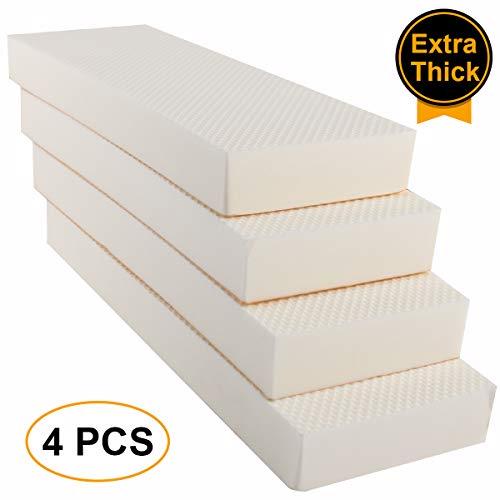 The Feelings Garage Wall Protector Car Door Protector Garage Guards for Car Door Edge & Car Bumper Protector Water Resistance Self Adhesive EVA Foam Wall Pad 1.18x3.9x11.8 inch White[4 Pack]