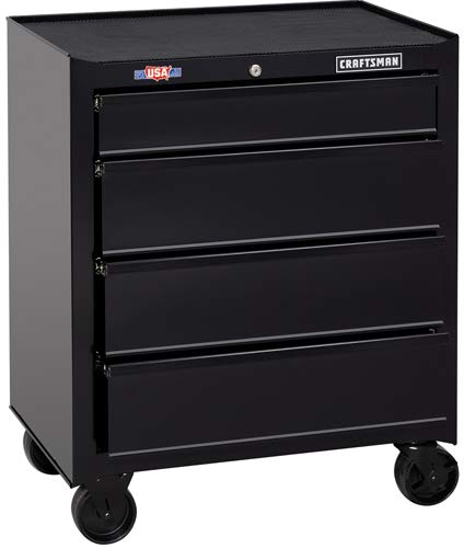 CRAFTSMAN 1000 Series 26.5-in W x 32.5-in H 4-Drawer Steel Rolling Tool Cabinet (Black)