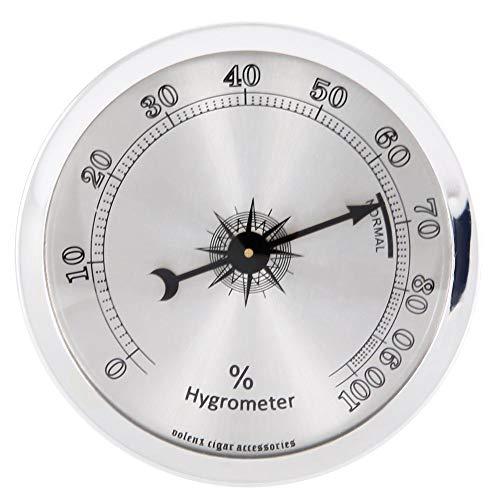 Garosa Mini Rundes Analog Hygrometer für Zigarren Humidor Schränke Professionelles Hygrometer
