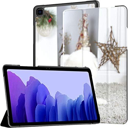 Samsung A7 Funda para Tableta Símbolo Año Nuevo Samoyedo Perro Cerca Funda para Samsung Galaxy Tab A7 10,4 Pulgadas Funda Protectora de liberación 2020 Funda Samsung Galaxy A7 Funda para Tableta Fund