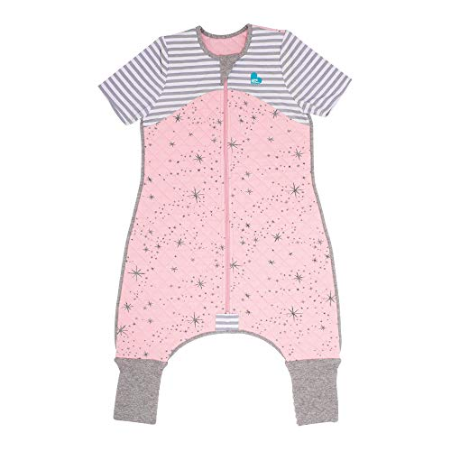 Love To Dream Sleep Suit, 1.0 TOG, Pink, 6-12 Months, Premium All-in-one Quilted Wearable Blanket That can't be Kicked Off, Legs with 2-in-1 feet Perfect for Sleep & Play, Ideal for Active Babies