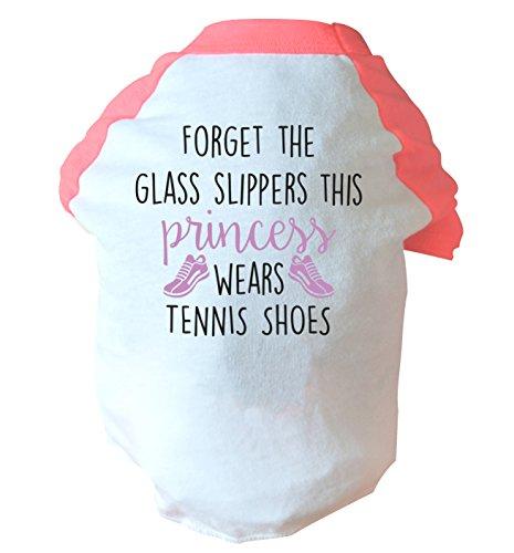 Flox Creative Vergessen das Glas Hausschuhe This Princess Wears Tennis Schuhe Zwei Straffen Hund...