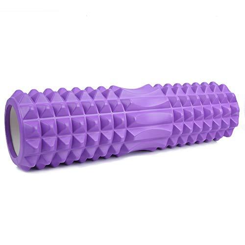 Keenso Rodillo de Espuma de Yoga, Punto de activación de Masaje Muscular de Columna de Yoga Hueca Pilates, Yoga, Ejercicio(Púrpura)
