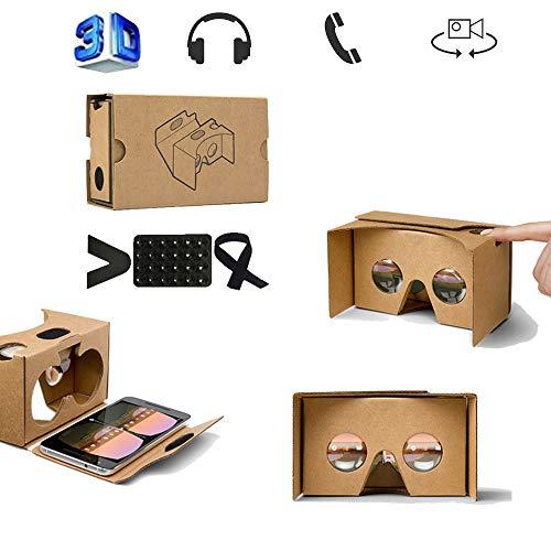 WJH9 VR Auricular, Virtual Reality Headset, Gafas 3D, VR Gafas, Gafas de Realidad Virtual Universal para Auriculares Compatible con iPhone y Android teléfono Huawei de 4,0-6,0 Pulgadas,Amarillo