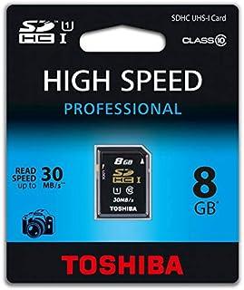 Toshiba 8GB SD Memory Card For Cameras - SDHC UHS-I CARD