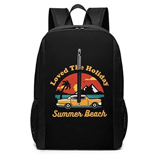 AOOEDM Travel Laptop Backpack Love The Holiday Summer Beach College Bookbag School Computer Bag for Men Women Kids Backpacks Daypacks
