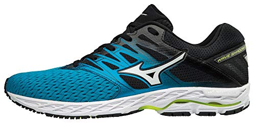 Mizuno Wave Shadow 2, Zapatillas para Hombre, (Bluejewel/Silver/Yellow 001), 44 EU