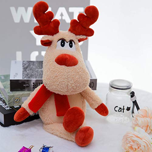 KAWAYI Kerst Pluche Poppen - Zacht Pluche Gevulde Speelgoed Geanimeerde Elk Figuur Kerstmis Figuur Decoraties Home Ornament Decoratie Speelgoed Voor Kinderen Verjaardag 50cm