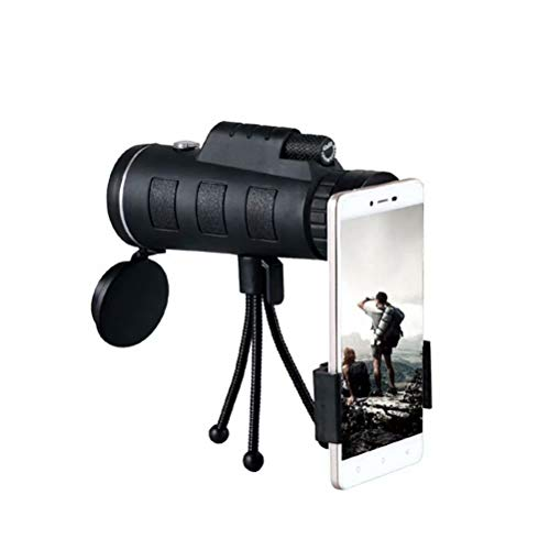 Babequeen Monoculars, 40X60 HD low night vision waterproof and shockproof high power phone adapter for bird watching, hunting, camping, hiking, traveling, with tripod [Best Telescope 2020]