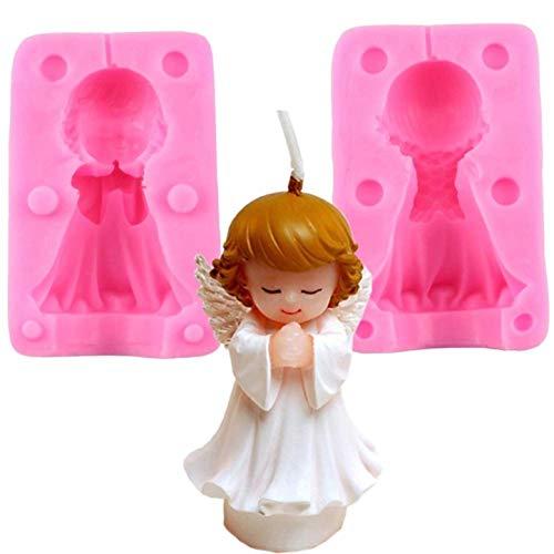 KIRALOVE Moule en Silicone en Forme d'ange - bébé priant - faveurs - baptême - bébés - Enfants - bébés - divisé en Deux Parties - Moule Artisanal - Bricolage - Faites - Le Vous - même - Passe - Temps