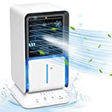 KOHINS 2020年最新版 冷風機 冷風扇 スポットクーラー 扇風機 スポットエアコン 卓上 小型 4in1 機能搭載 自動首振り 省エネ 軽量 ミスト機能 加湿機能 冷却機能 空気清浄機能 3段階切替 タイマー機能 ライト付き 角度調整 熱中症と暑さ対策 オフィス 寝室 PSE認証済 日本語説明書 ホワイト