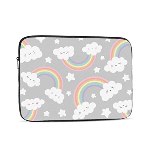 2018 Macbook Pro Accessories Cloud Rainbow Cartoon Macbook Air Case Multi-Color & Size Choices 10/12/13/15/17 Inch Computer Tablet Briefcase Carrying Bag