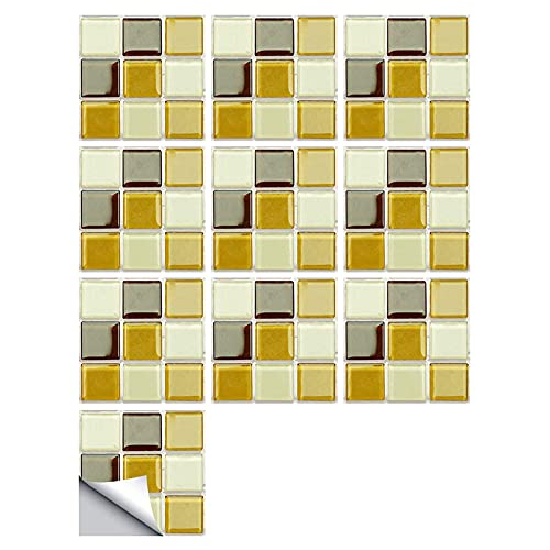 ROERDTRY Klebefliesen DIY wasserdichte Selbstklebende Wand 3D Kristallfliesen Aufkleber Wandaufkleber Mosaik Ziegel Selbstklebende Home Decal für Badezimmer 3D-Kristallfliesen-Aufkleber