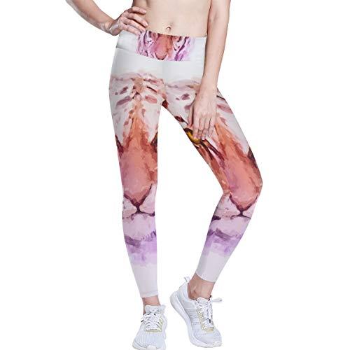 DEZIRO hoge taille Yoga Broek Tijger Schilderen Yoga Broek met Tummy Control, 4 Manieren Stretch Workout Hardlopen Yoga Leggings