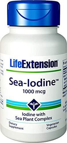 Life Extension Sea-Iodine Capsules, 1000 mcg, 150 Veg Caps, Natural Iodine Supplement from Kelp and Bladderwack