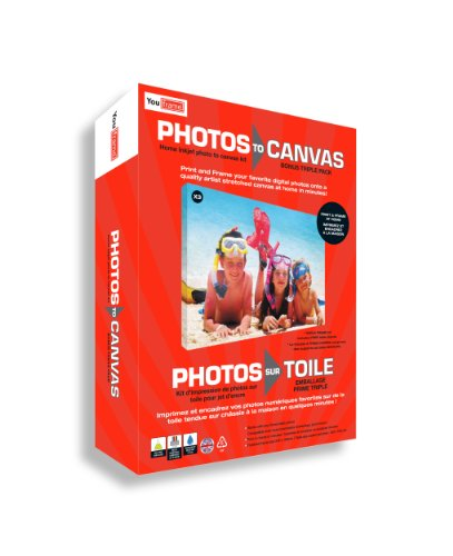 You Frame Photos to Canvas, Print and Canvas Your Own Photos, Fun & Easy to Use Each Canvas Measures 24cm x 18cm x 2cm (Triple pack)