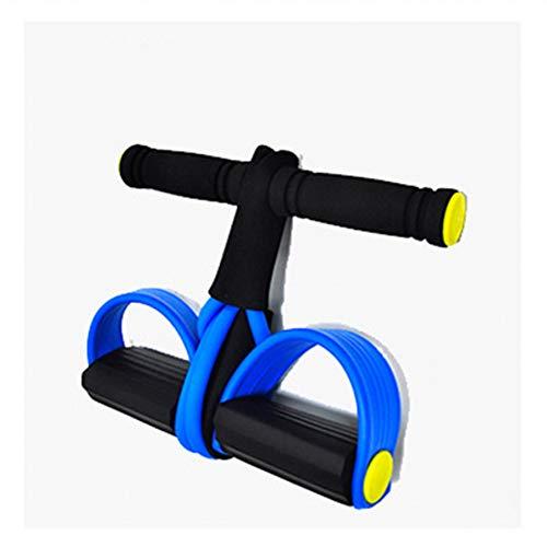 CWJCZY Corde elastiche per trazione addominale, atleta Rower Belly Resistance Band, ginnastica domestica, allenamento sportivo, elastici per dispositivi fitness Blu.