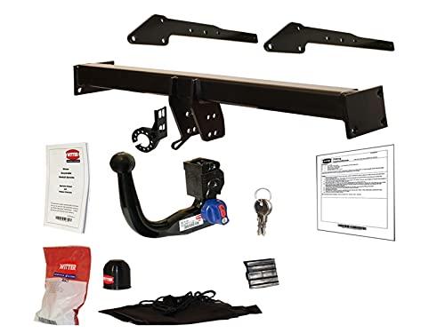 Barra de Remolque Desmontable con Cuello de Cisne para Fiat 500X Hatchback (334), Jeep Renegade - no para AdBlue (1/2015-)