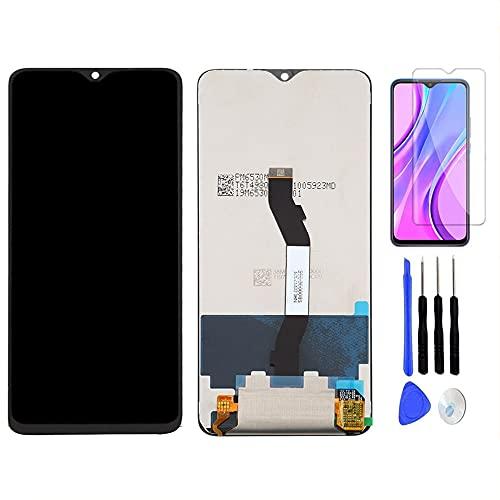 Reemplazo de Pantalla para Xiaomi Redmi Note 8 Pro M1906G7T M1906G7G LCD Display Digitalizador de Pantalla táctil Asamblea +con un Conjunto de Herramientas + Película Templada (Negro)