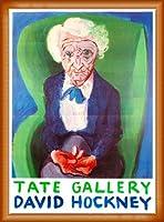 ポスター デビット ホックニー My Mother Bridlington 1988 額装品 ウッドベーシックフレーム(オレンジ)