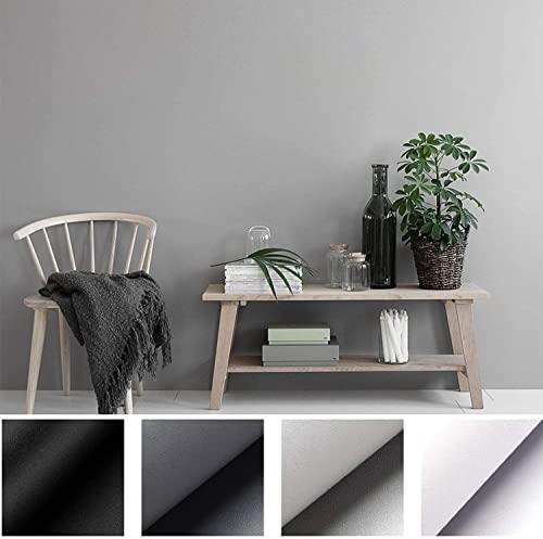 Kinlo - Lámina adhesiva decorativa de PVC, 5 x 0,61 m, color blanco, gruesa, autoadhesiva, resistente al agua, embellece muebles sin brillo, pvc, Gris Claro, 5M