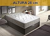 Relaxing-Confort AMZP18 150X200 Colchón muelles ensacados viscoelásticos, Poliuretano