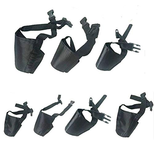 Dog Muzzles Suit, 7 PCS Anti-Biting Barking Pet Muzzles Adjustable Dog Muzzle Mouth Cover for Small...