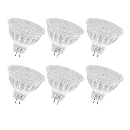 5.5W Lampadine a LED Mr16 Gu5.3 Faretti(La seconda generazione) Equivalente 60W Lampadina 600LM Bianco Caldo 3000K AC/DC12V 6 Pezzi.
