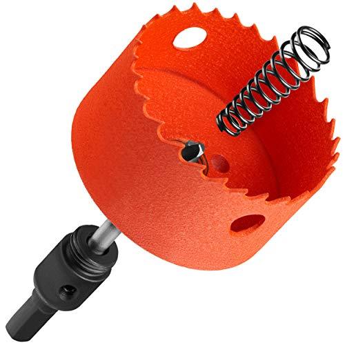 KSP-Tec - Lochsäge 68mm – Dosenbohrer für Hohlwanddosen – mit Auswerfer - Bohrkrone 68mm - Lochkreissäge – Steckdosenbohrer für Hohlraumdosen