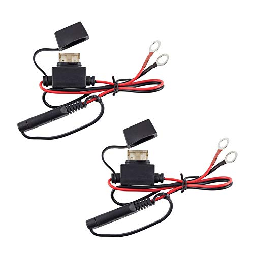 2 cables de carga para motocicleta, terminales de batería, arnés de conector de 12 V, cable adaptador de carga de desconexión rápida, cable de extensión SAE