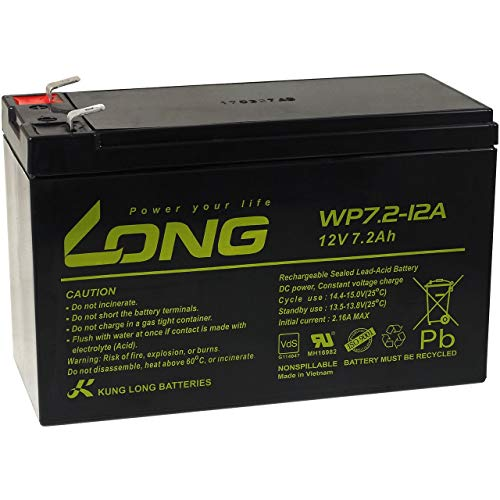 Powery KungLong Batería Plomo WP7.2-12A F2 VDS