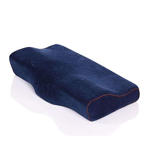 La almohada con memoria para el cuello alivia la f Mariposa de contorno de espuma de memoria almohada, almohadas ortopédicas para el dolor de cuello ergonómico cervical de la almohadilla por lado Trav