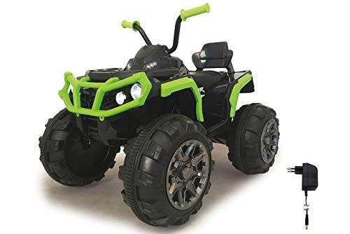 Jamara 460450 Ride-on Quad Protector krachtige aandrijfmotoren en 12 V accu voor lange rijtijd, 2-versnellingen turboschakelaar, ultra-grip rubberen ringen op aandrijvingswielen, FM-radio, groen