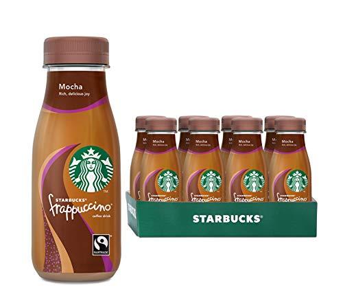 Starbucks Frappuccino Mocha Chocolate, Erfrischendes Milchmischgetränk mit Schokogeschmack zum Mitnehmen, 8er Pack (8 x 250 ml)