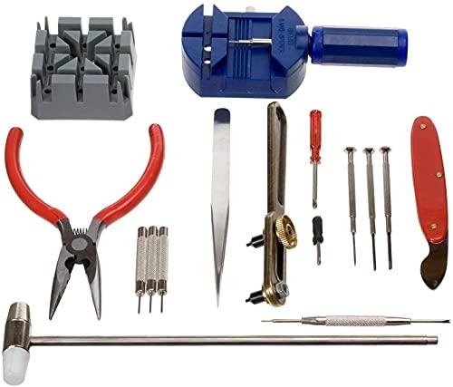Kit de herramientas de reparación de relojes de 16 piezas y abridor de pines para quitar la espalda, juego de herramientas para abrir relojes de lujo